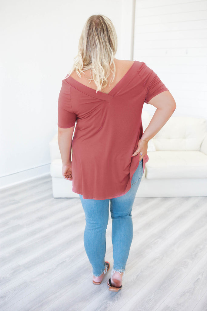 Plus Size V-Neck Tee - Online Clothing Boutique