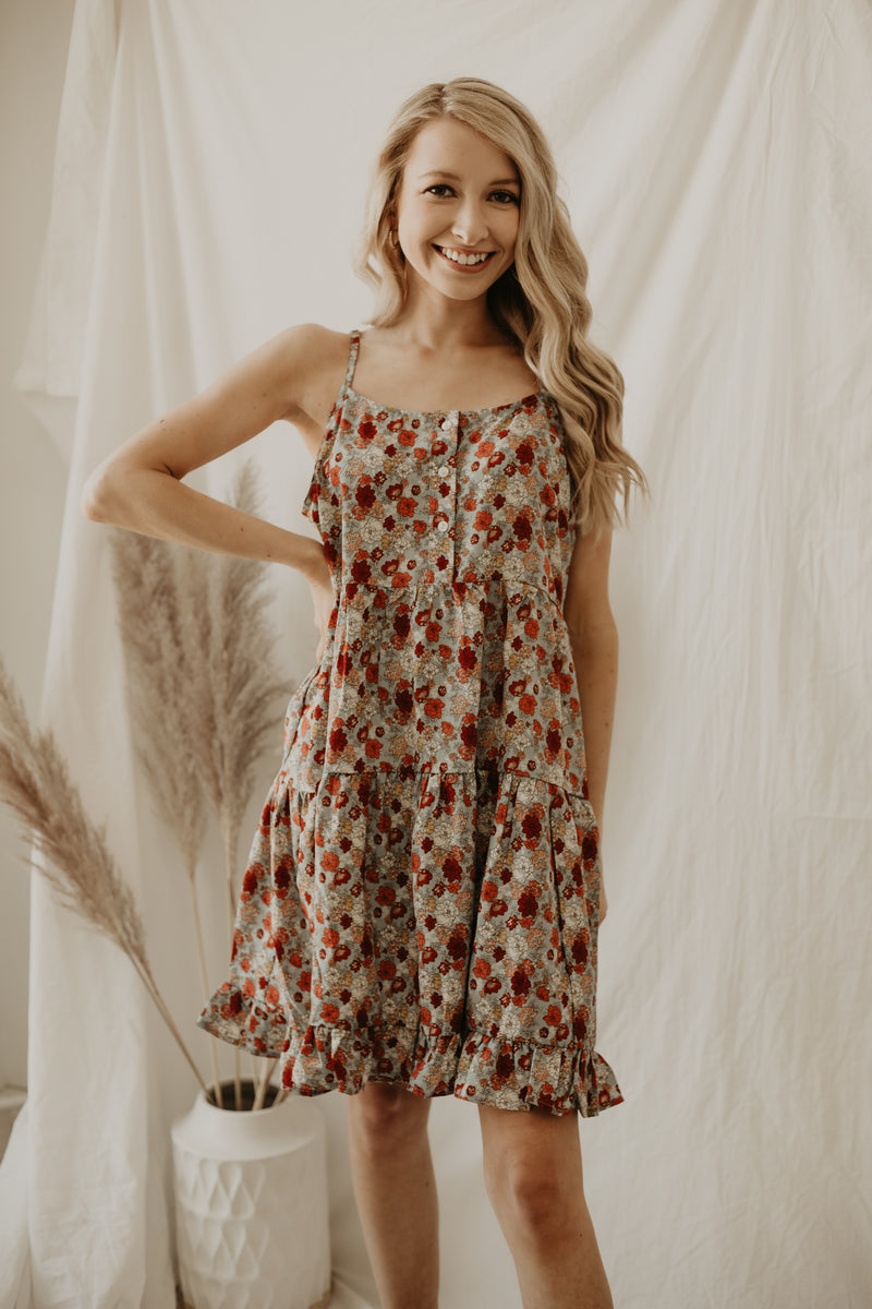 Cami Strap Floral Print Tiered Dress | Stylish & Affordable | UOI Online