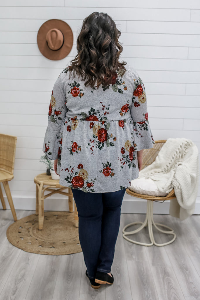 Plus Size Floral Top | Stylish & Affordable | UOI Online