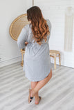 Short Sleeve Tie Waist Dress - Online Clothing Boutique
