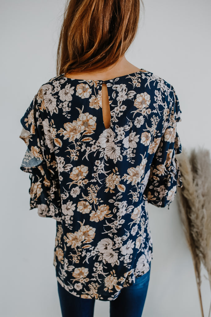 Ruffled Floral Print Blouse | Stylish & Affordable | UOI Online