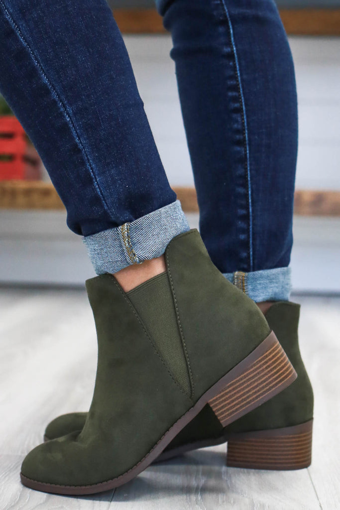 Faux Suede Booties | Stylish & Affordable | UOI Online