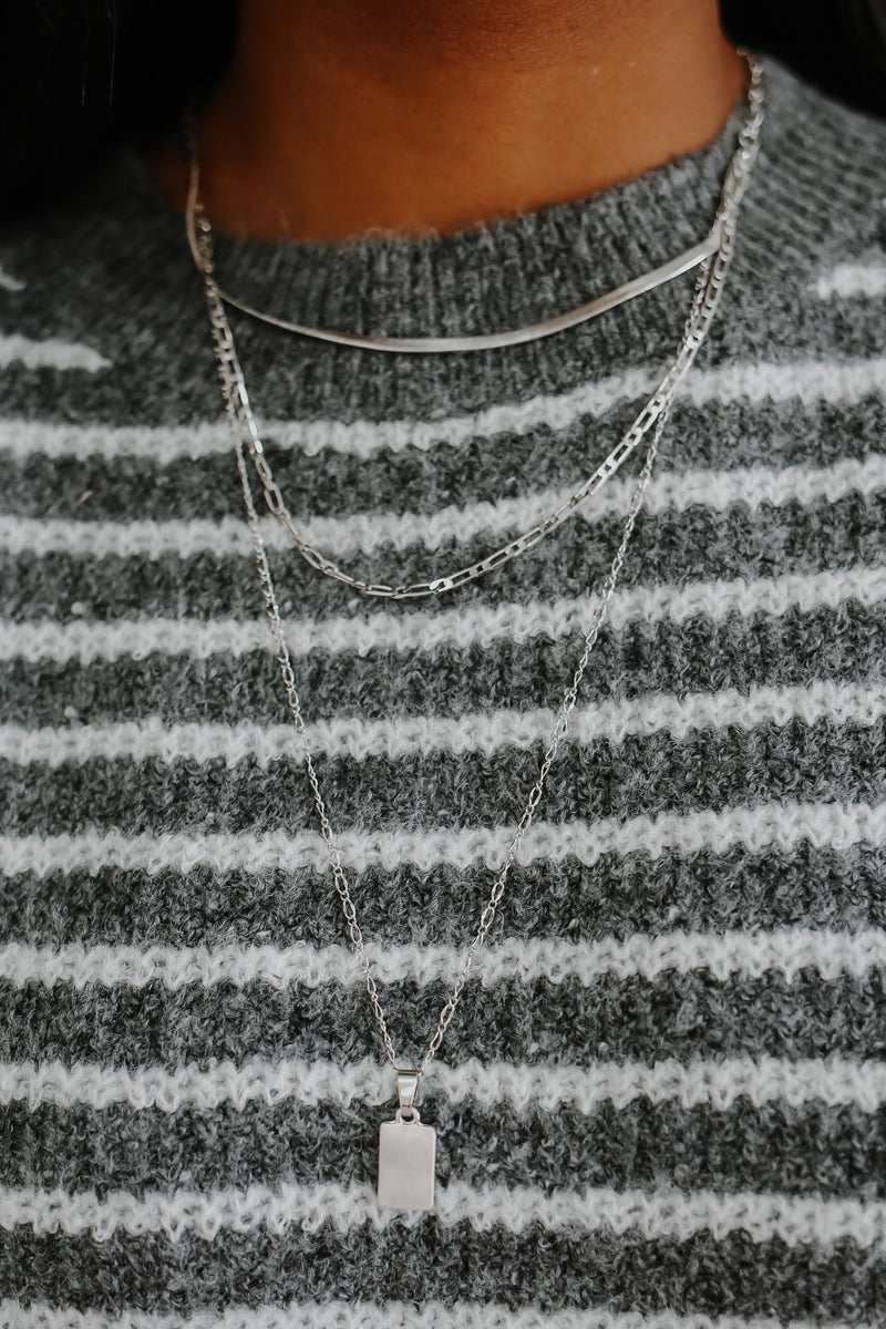 Top Tier Necklace - Silver