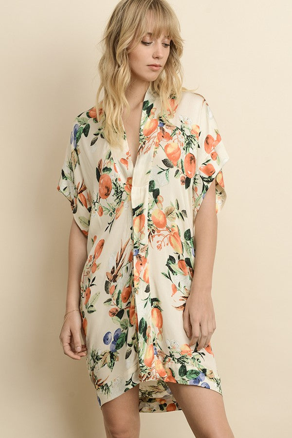 Tropical Print Dress - Online Clothing Boutique