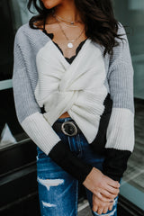 Multi Wear Knit Color Block Sweater | Stylish & Affordable | UOI Online