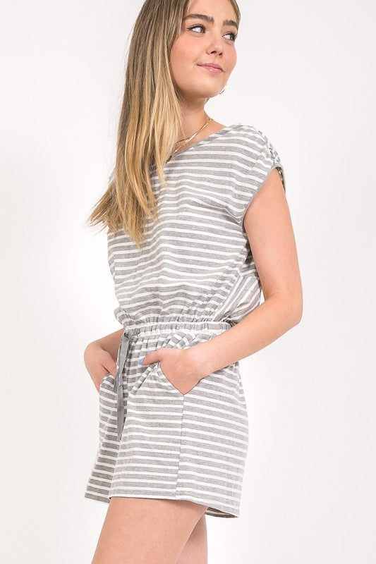 Striped Romper | Stylish & Affordable | UOI Online