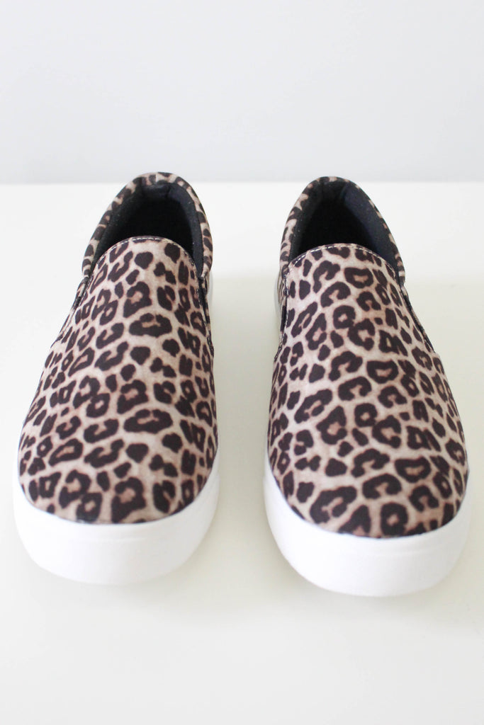 Reign Faux Suede Slip On Sneakers - Online Clothing Boutique