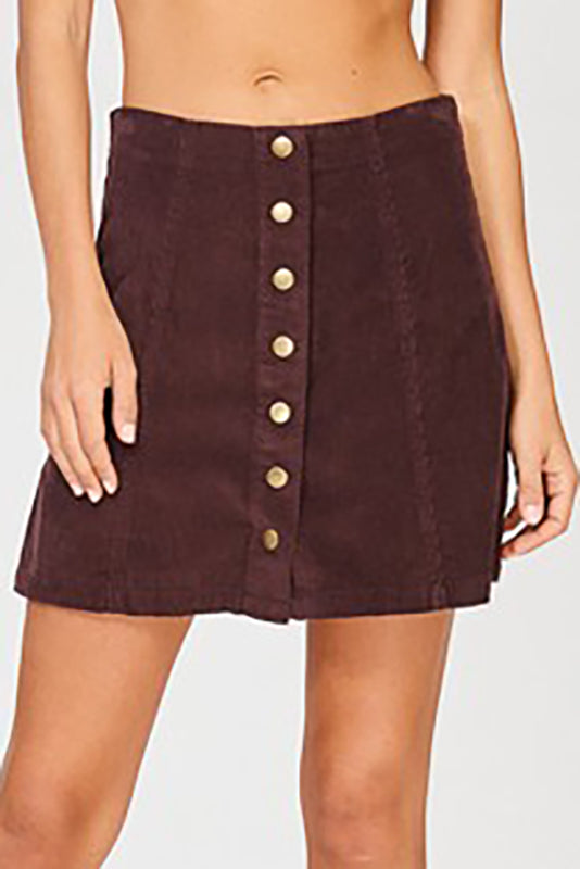 Corduroy Mini Skirt | Stylish & Affordable | UOI Online