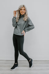 Heather Grey Cowl Neck Top | Stylish & Affordable | UOI Online