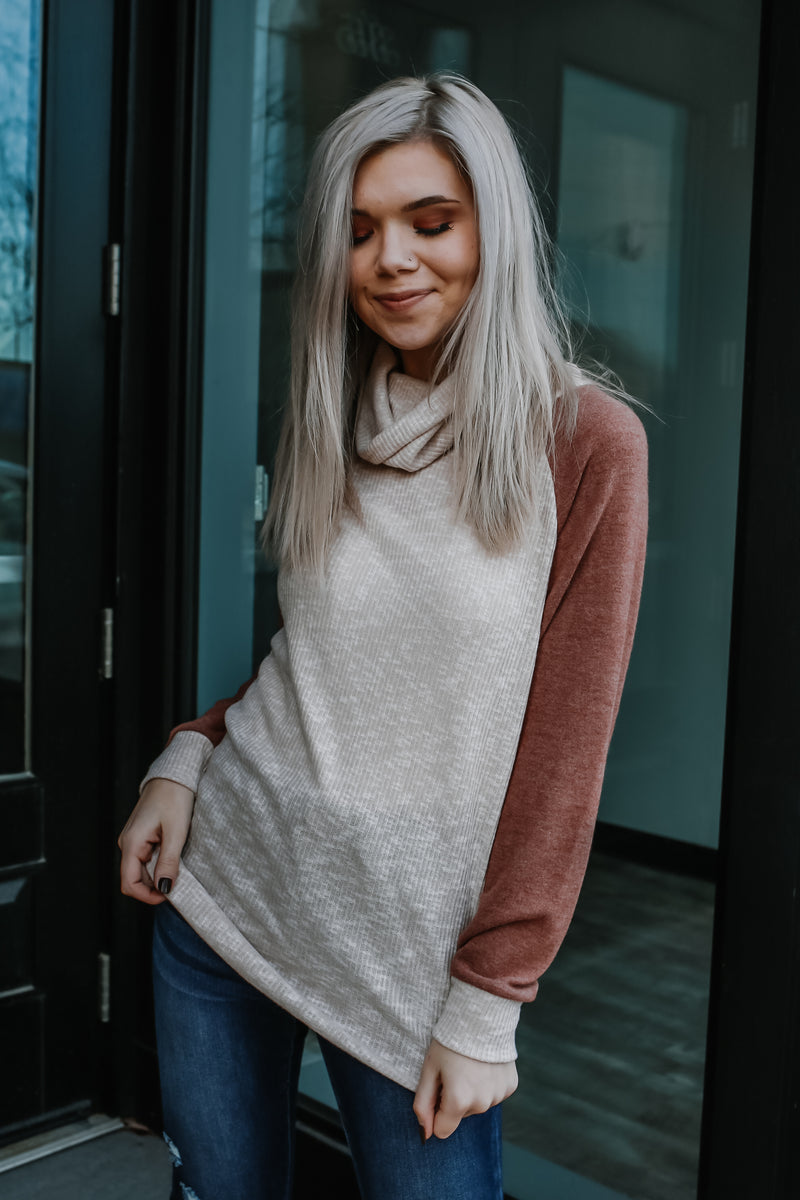 Long Sleeve Cowl Neck Raglan Top | Stylish & Affordable | UOI Online