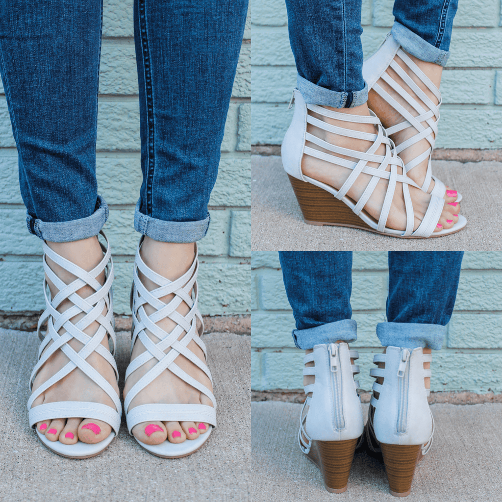 Muno-S Strappy Wedges - Online Clothing Boutique