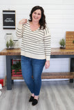 Plus Size Striped Sweater | Stylish & Affordable | UOI Online