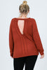 Plus Size Knit Keyhole Sweater - Online Clothing Boutique