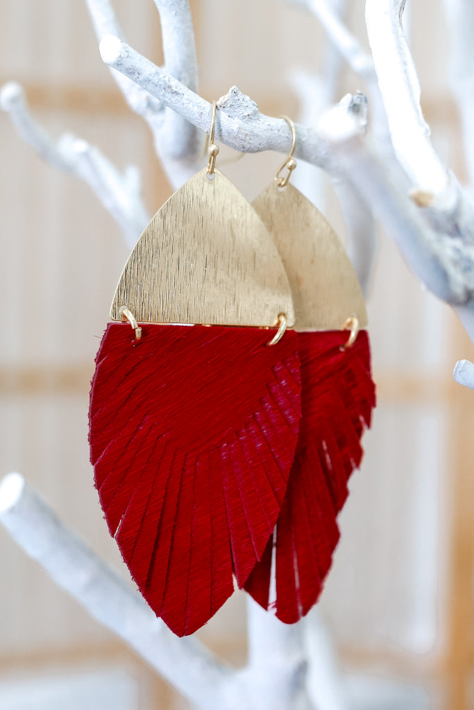 Watch You Go Earrings - Cardinal