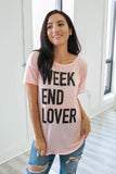 Weekend Lover Graphic Tee - Online Clothing Boutique