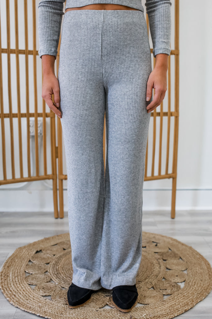 Ribbed Knit Pants | Stylish & Affordable | UOI Online