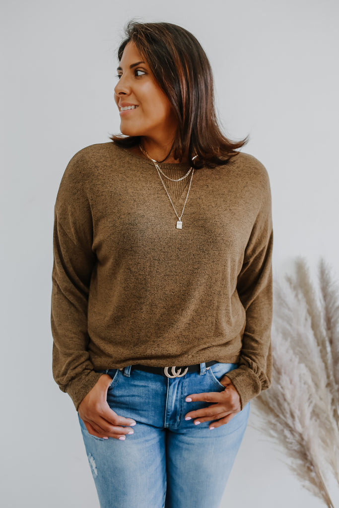 Melange Knit Top | Stylish & Affordable | UOI Online
