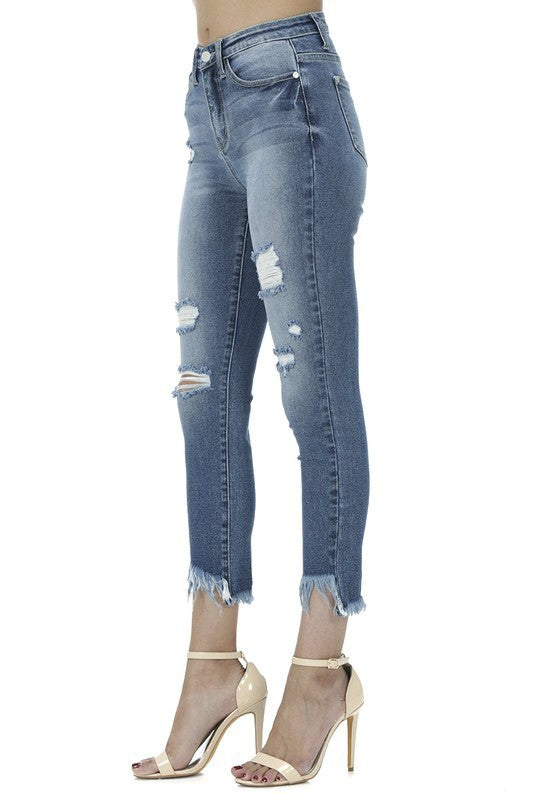 High Rise Distressed Denim | Stylish & Affordable | UOI Online