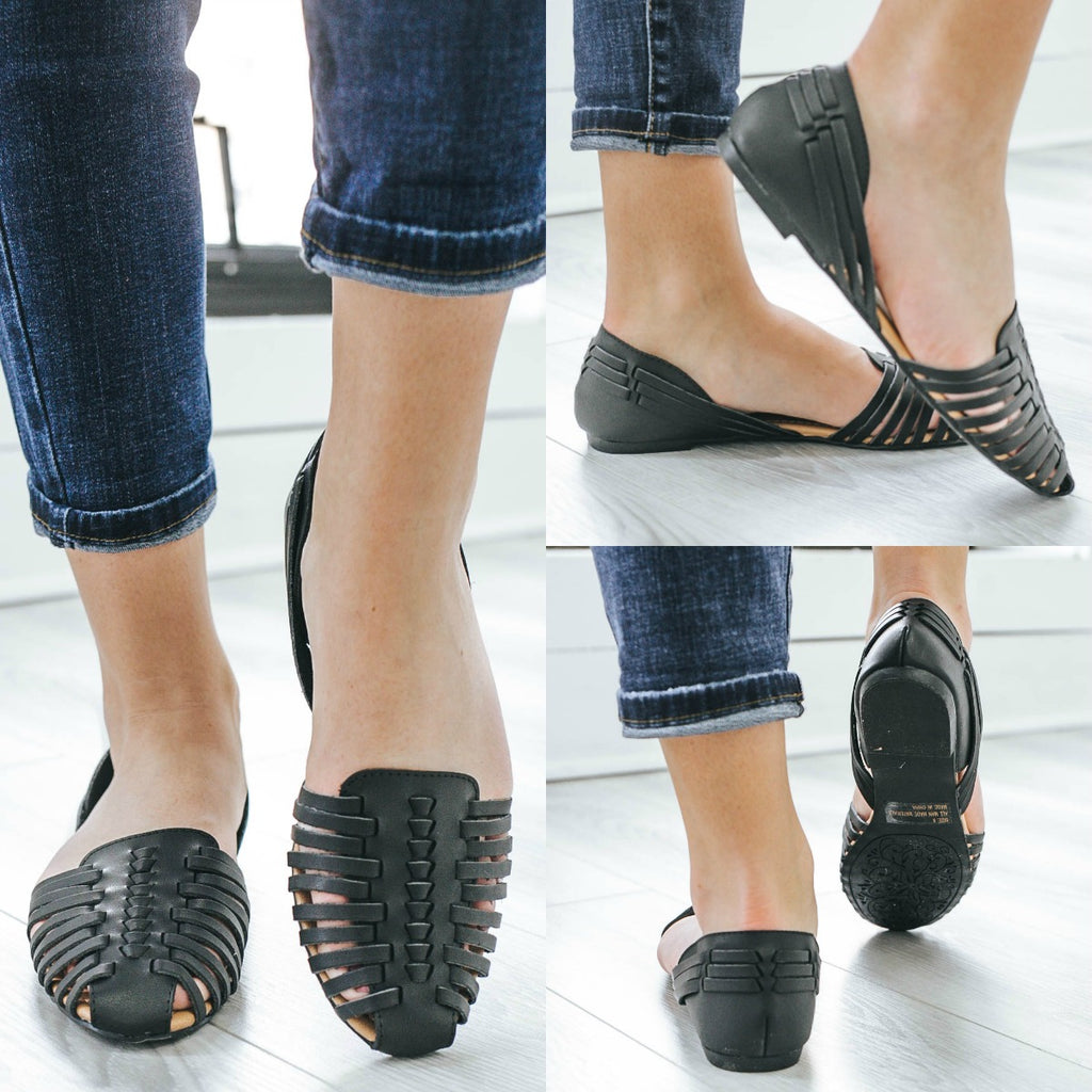 Palmer-413 Faux Leather Flats - Online Clothing Boutique