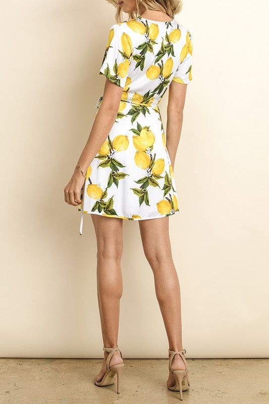 Lemon Pattern Dress - Online Clothing Boutique