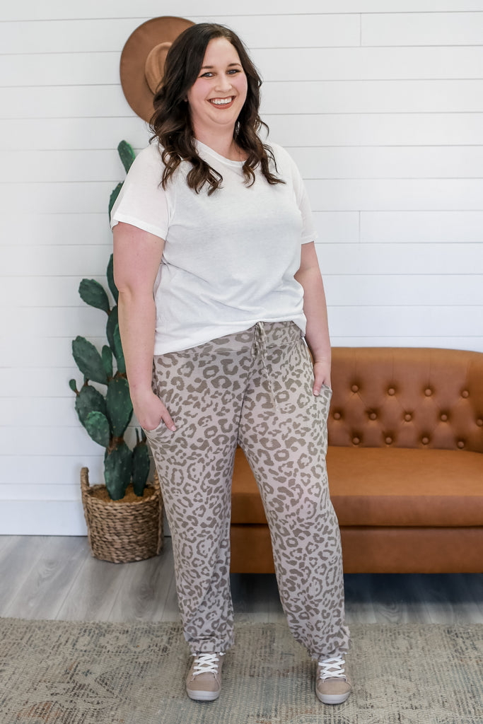 Leopard Print Plus Size Joggers | Stylish & Affordable | UOI Online