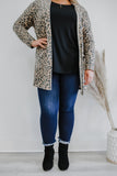 Brushed Knit Leopard Print Plus Cardigan | Stylish & Affordable | UOI Online