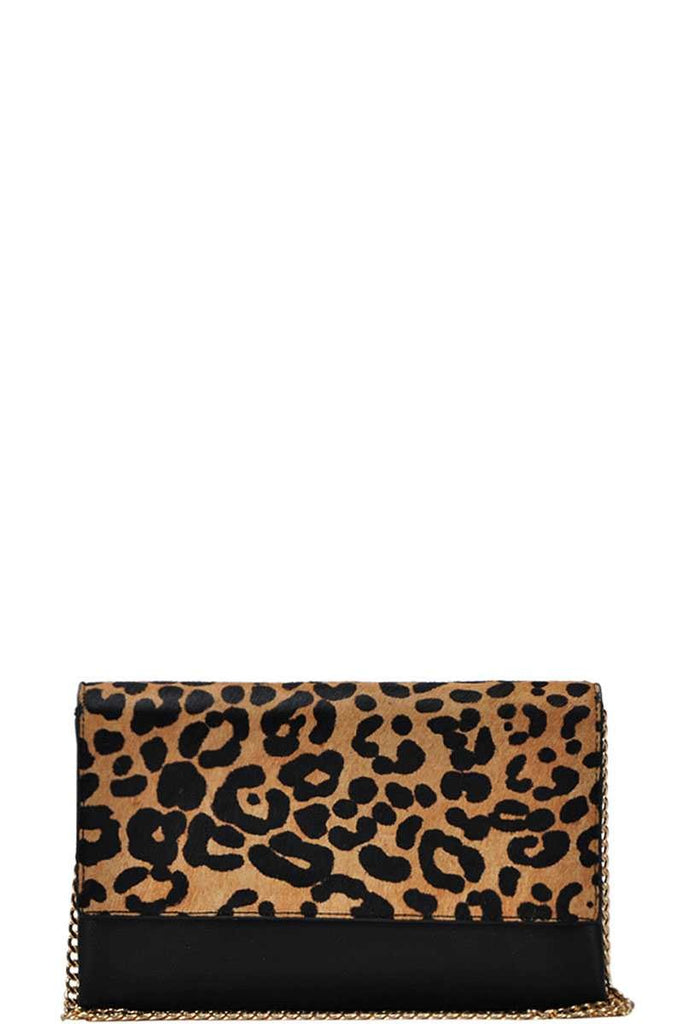 Leopard Print Crossbody Bag - Online Clothing Boutique