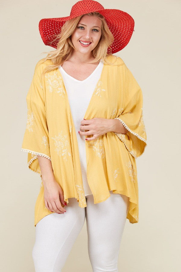Plus Size Crochet Lace Kimono - Online Clothing Boutique