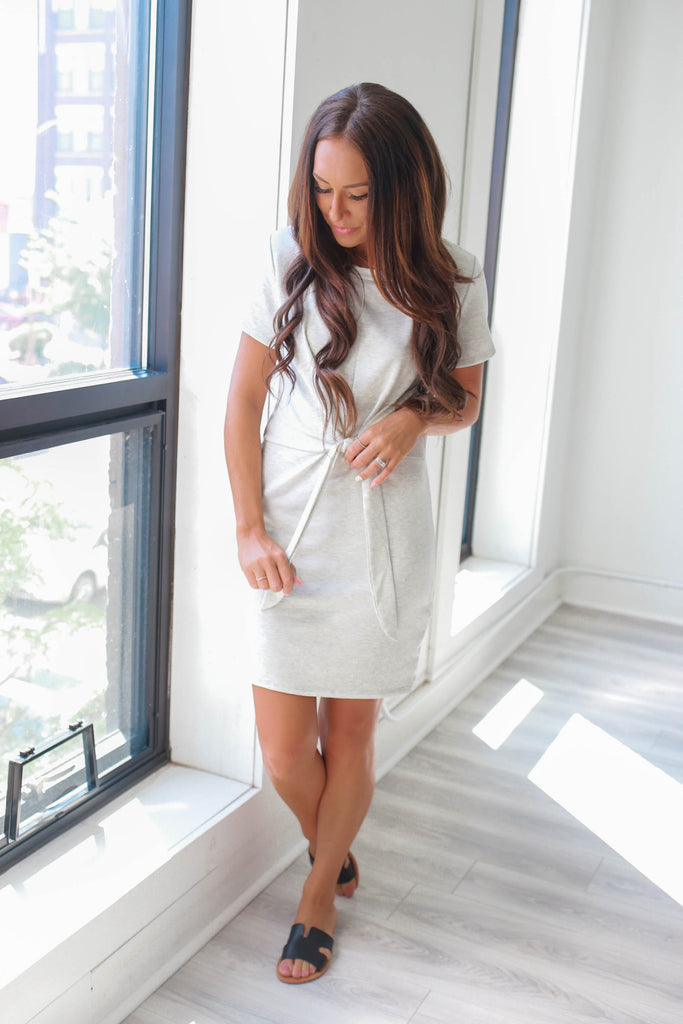 Short Sleeve Shift Dress - Online Clothing Boutique