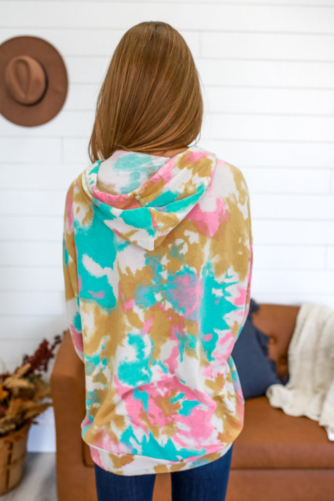 Over Sized Tie-Dye Hooded Sweatshirt | Stylish & Affordable | UOI Online