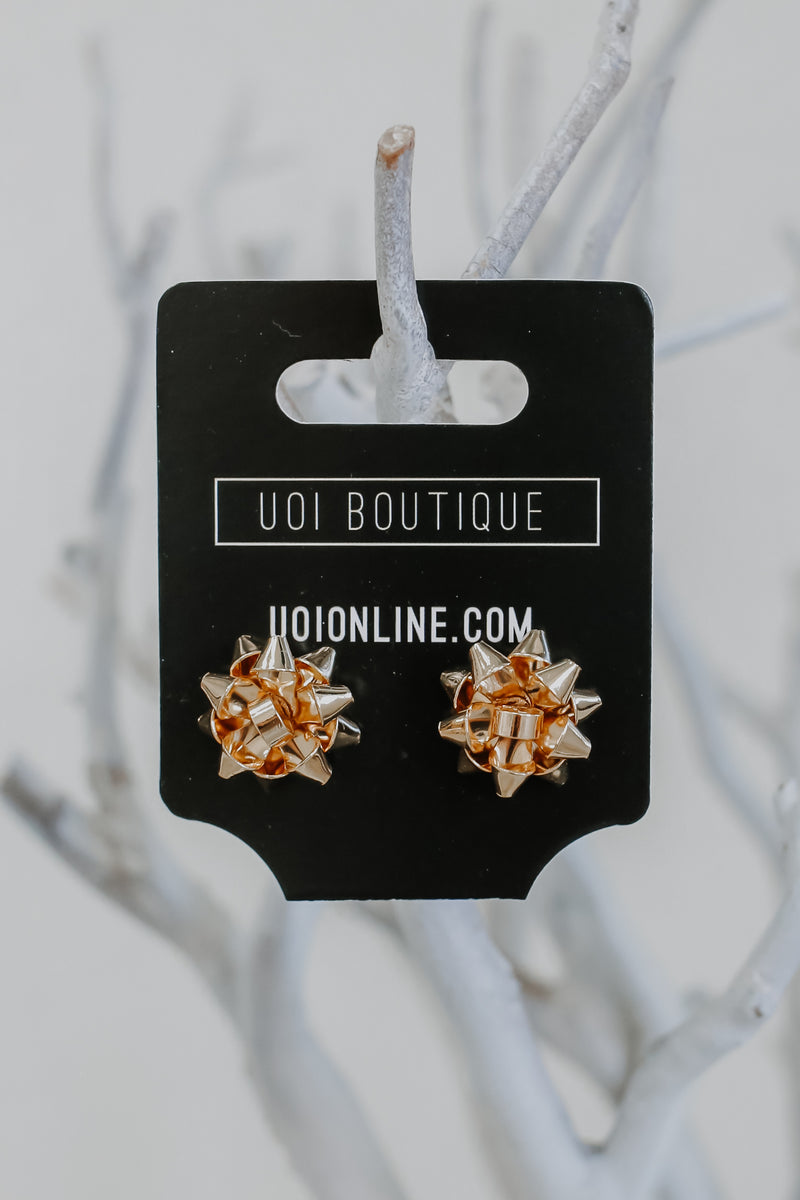 Christmas Bow Stud Earrings | Stylish & Affordable | UOI Online