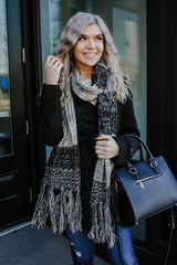 Multi Color Cable Knit CC Scarf | Stylish & Affordable | UOI Online