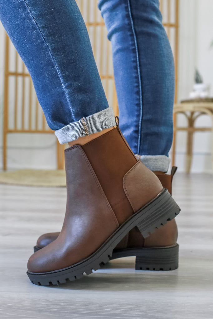 Faux Leather Ankle Booties | Stylish & Affordable | UOI Online