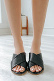 GWEN-01 - Slide On Low Heeled Sandal - Online Clothing Boutique
