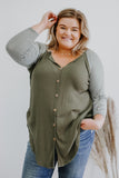 Long Sleeve Plus Size Waffle Knit Top | Stylish & Affordable | UOI Online