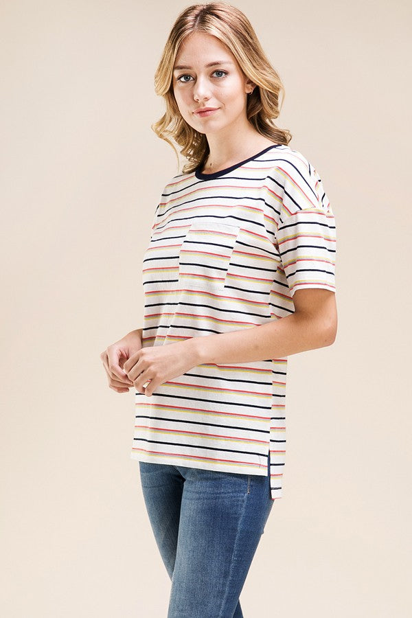 Oversized Striped Tee - Online Clothing Boutique