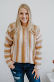 Textured Long Sleeve Striped Knit Sweater | Stylish & Affordable | UOI Online