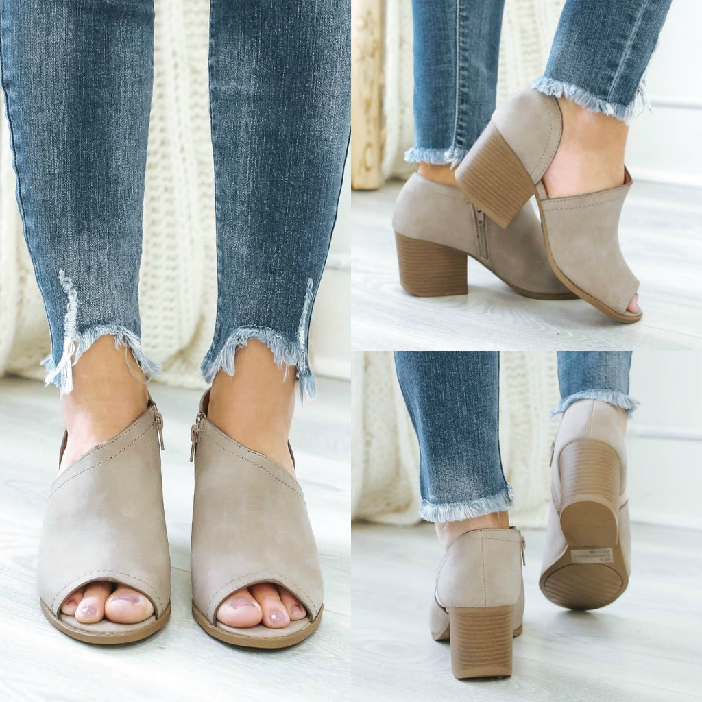 Core-62 Open Toe Ankle Booties - Online Clothing Boutique