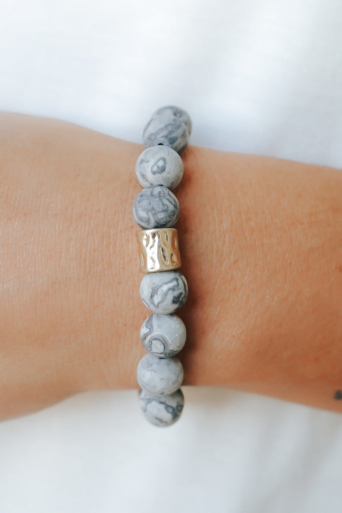 Stone Beaded Bracelet - Online Clothing Boutique