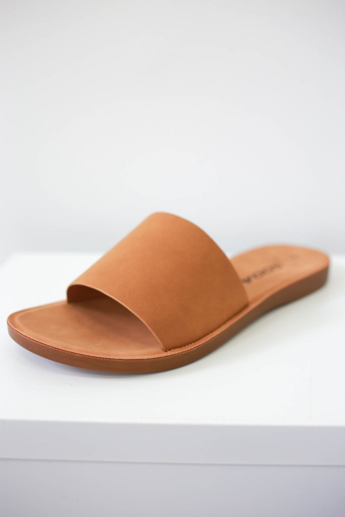 Faux Suede Wide Fit Sandals - Online Clothing Boutique