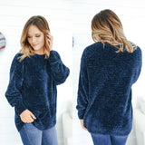 Chenille Oversized Sweater - Online Clothing Boutique