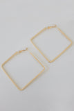 Square Shaped Hoop Earrings - Online Clothing Boutique
