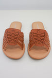 Faux Leather Woven Sandals - Online Clothing Boutique