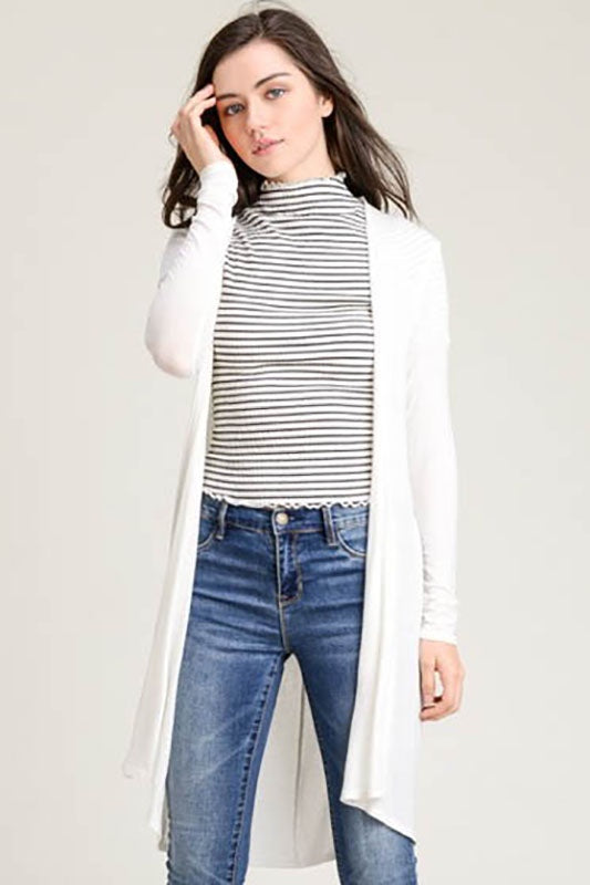 Lightweight Long Sleeve Cardigan - Online Clothing Boutique
