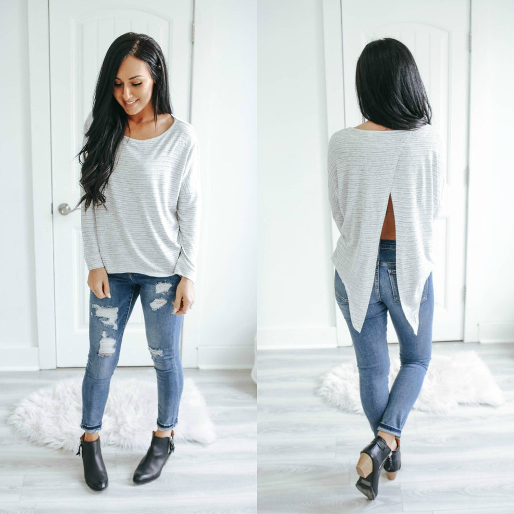 Long Dolman Sleeve Top - Online Clothing Boutique