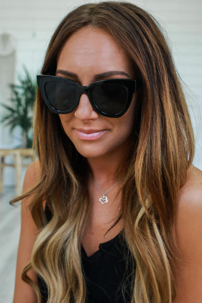Oversized Cat Eye Sunglasses - Online Clothing Boutique