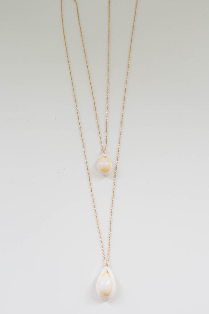 Layered Seashell Necklace - Online Clothing Boutique