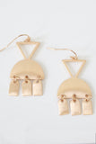 Geometric Dangle Earrings - Online Clothing Boutique