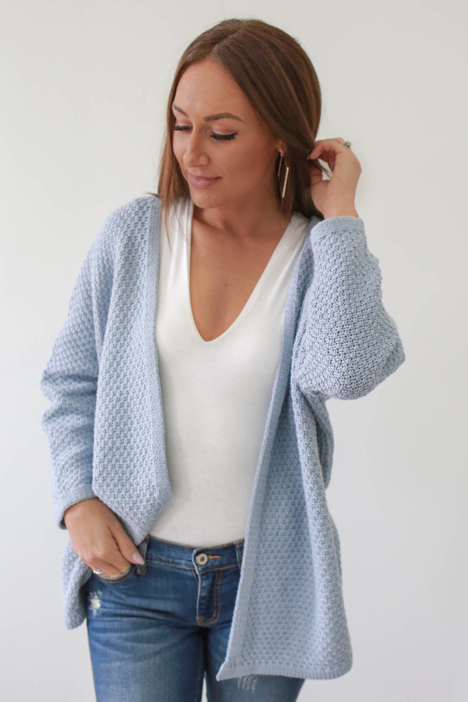 Long Sleeve Knit Cardigan - Online Clothing Boutique