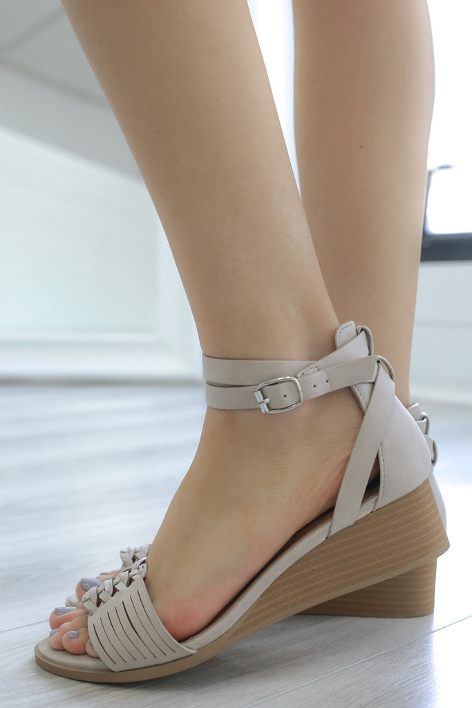 LIAM-04 Open Toe Wedges - Online Clothing Boutique